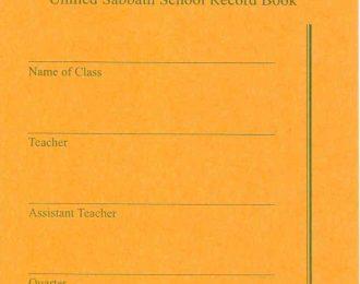 Sabbath School Record Envelopes